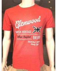 T-shirt manches courtes GOLFORD coral red